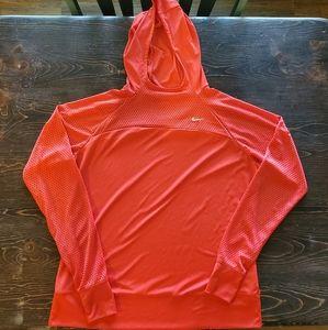 Nike Orange Dri-Fit Hoodie